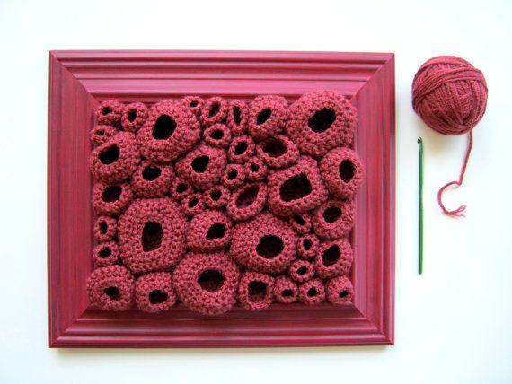 free form crochet by cornflowerbluestudio #crochet #art fiberart #softsculpture