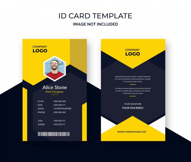 Corporate Id Card Template Premium Psd Free Psd Freepik Psd Freeabstract Freecard Freetemplate Freegeometri Id Card Template Card Template Corporate Id