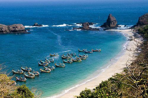 Papuma beach, Jember regency, East Java, Indonesia