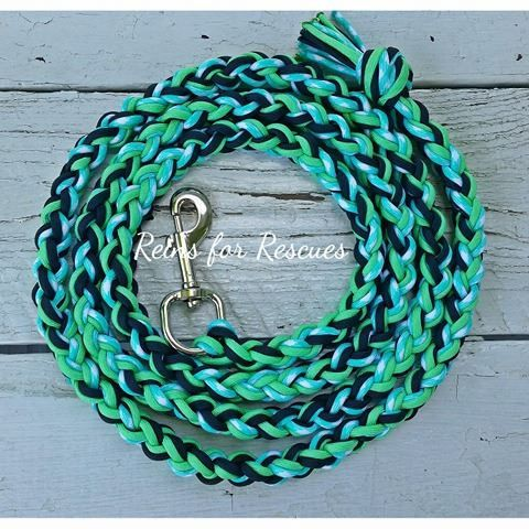 Use the code MBRFR for 10% off! Mint Green, Black & Seafoam Lead Rope
