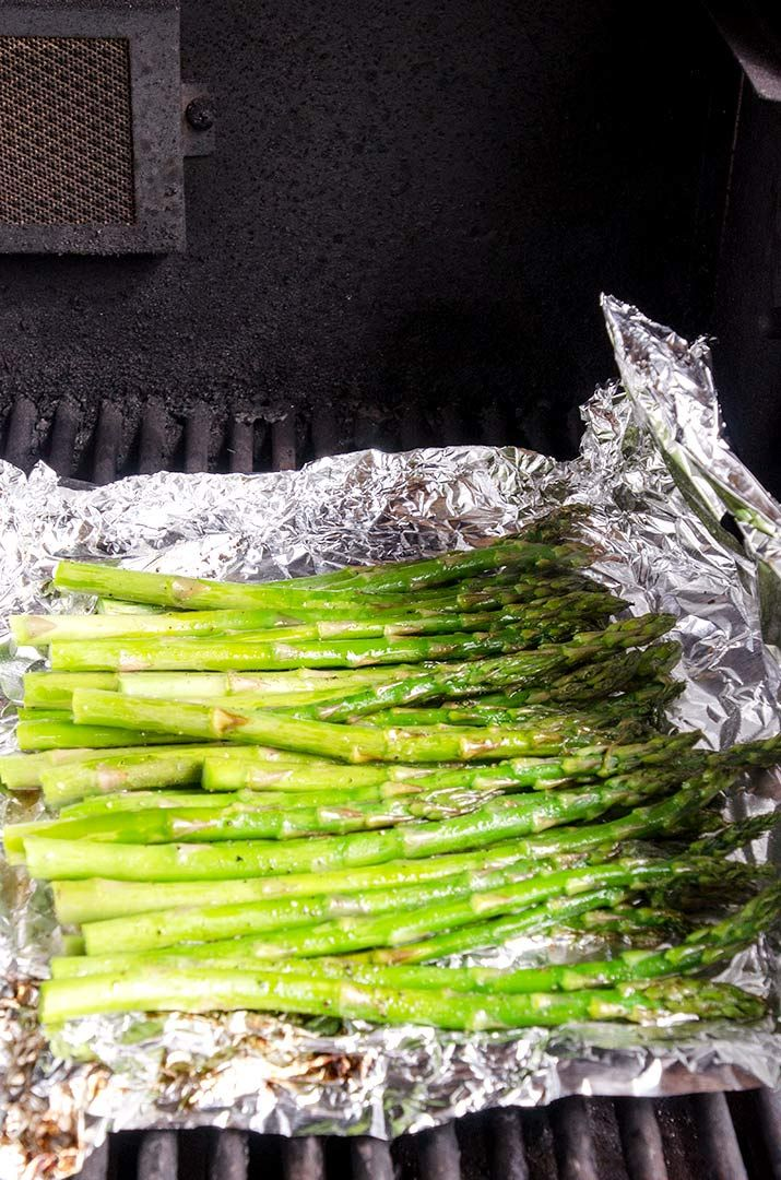 Grilled Asparagus Recipe Step 7: Open the asparagus foil package carefully and check for doneness. If they look good, it is time to place them on the grill.