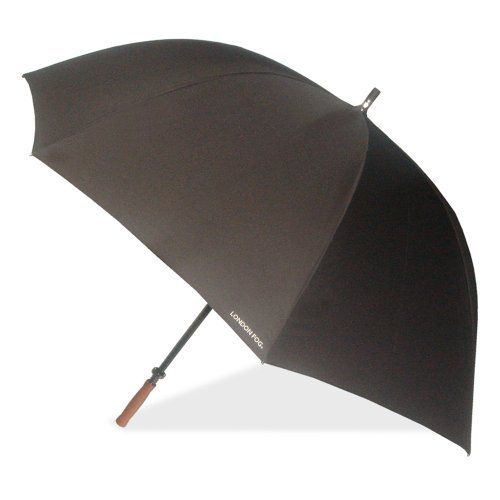 London Fog Luggage Sport Golf Umbrella, Black, One Size London Fog. $29.56. Manual open. 100% Polyester. 62 inch arc canopy. Classic wooden handle and fiberglass structure. Superior water repellent fabric. Save 26% Off!