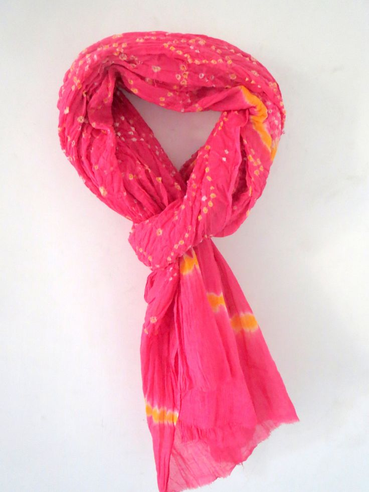 Traditional Indian handmade Ethnic Cotton Bandhani Scarf/ Shawl/ Wrap/ Dupatta/ Stole/ Chunni Free Size Long by CRAFTYJAIPUR on Etsy