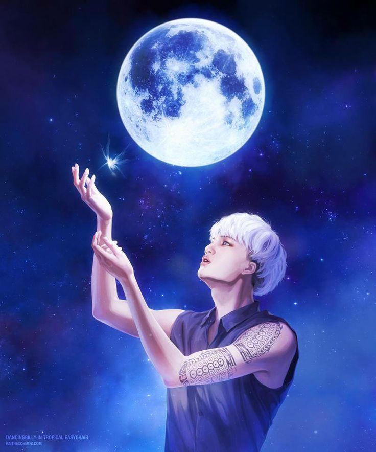 Kai fanart...the moon and Kai...my favorites stars..