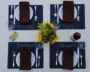 Chalkboard placemats, the best!!: Chalkboards, Chalkboard Placemats Neat, Idea, Placemats Personalize, Placemats Sally, Places, Products, Friend, Place Mats