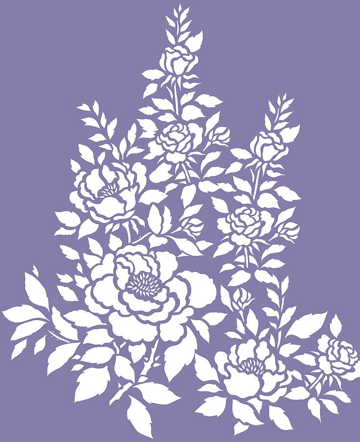 Rose Stencil - 3 rose motifs on 2 sheets Flowering rose theme pack stencil The China Rose Theme Pack Stencil is a perfect design for adding beautiful decorative touches to a host of surfaces - great for walls and furniture or on fabric and cushion covers. This design is also perfect for adding beautiful effects to favourite clothes - jackets, wide legged trousers and skirts. The three motifs work well in natural rose colours or in monochromatic schemes and metallic hues. Each motif can be…