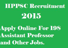 HPPSC Recruitment 2015