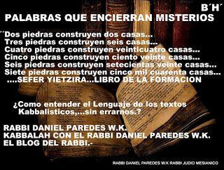 KABBALAH CON EL RABBI DANIEL PAREDES W.K.: EL LENGUAJE DE LOS KABBALISTAS 1.1
