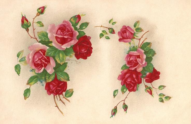 Vintage Paper Pixels: Flowers:
