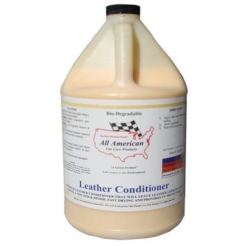 All American Car Care Products Leather Conditioner - Premium Mink Oil Enriched Moisturizer For Fine Automotive Leather (1 Gallon)