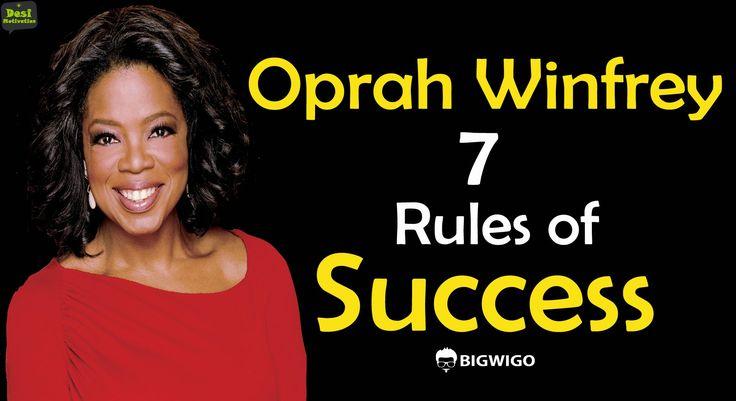 Oprah Winfrey 7 rules of Success Inspirational Speech | Struggle | Inter...