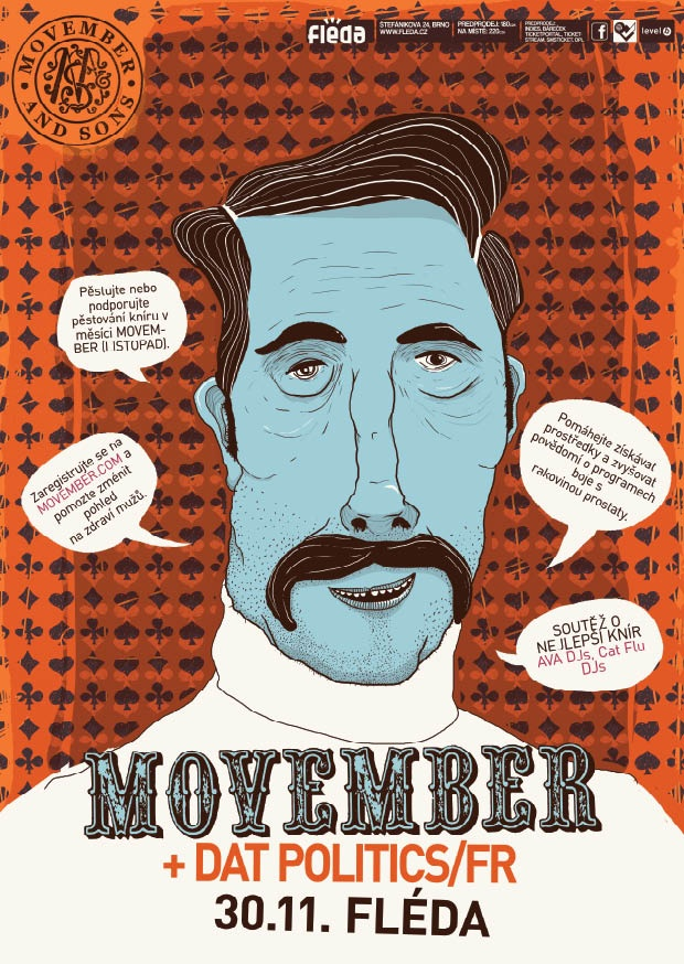 """Movember party poster"" by yVANs"