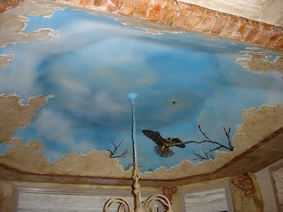 106 best faux finishing images on pinterest texture for Ceiling mural painting techniques
