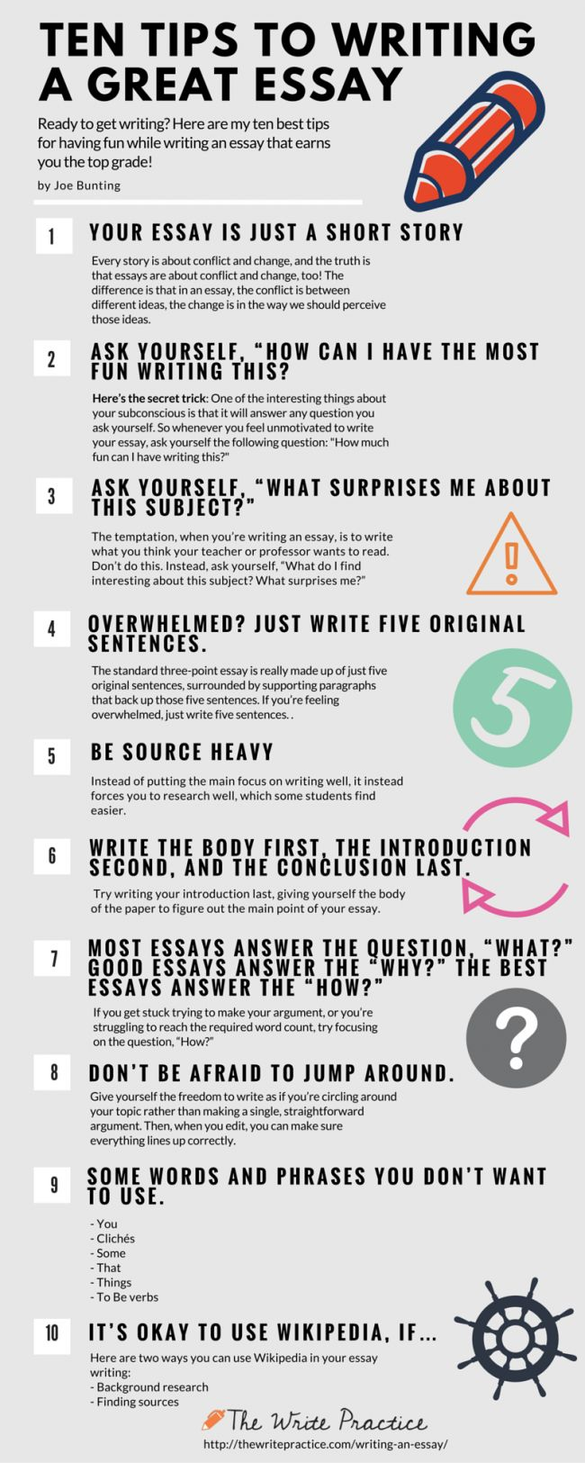10 Tips for Writing an Essay