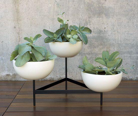 Case Study Cylinder Plant Pot With Plinth Large