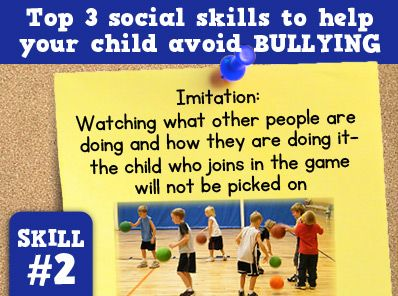 A child who join in the game will not be picked on. For more ways to help your child avoid bullying visit http://sbsaba.com