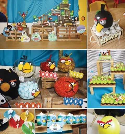 Angry birds party party party ideas party favors party for Angry birds party decoration ideas