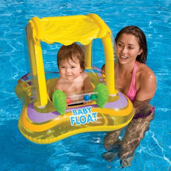 Inflatable Pool Float With Canopy
