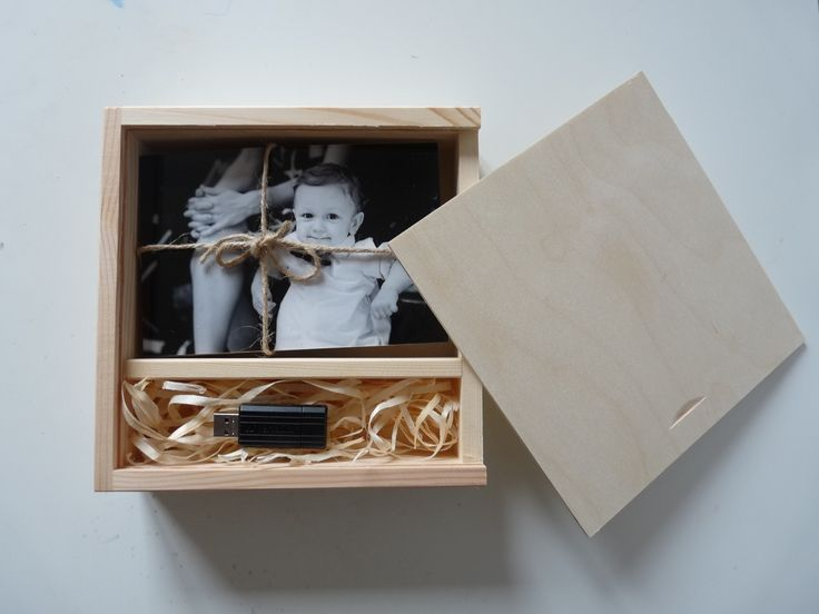 "PHOTO&USB box for 4"" x 6"" (10x15cm) photos and USB flash drive with sliding lid and compartment inside, unpainted wooden photo box decoupage  Craft Supplies & Tools  Woodworking Supplies  Wood  photo box  unpainted wooden box  box for decoupage wood memory box  box for usb  usb box  wedding box  wedding case  unfinished wood box  wooden box wooden photo box  wood box for photos  photo and usb box"