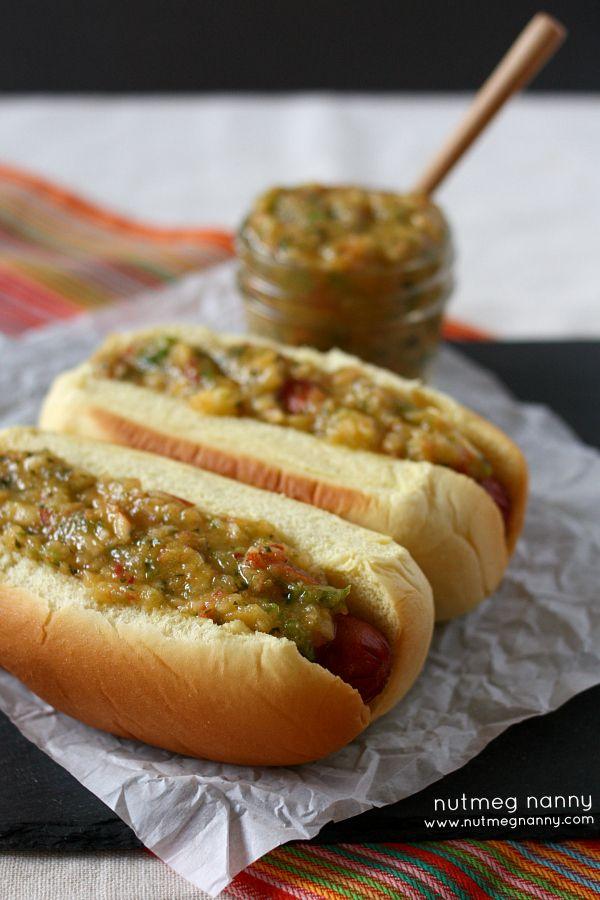 {30 second} Peach Jalapeño Salsa Dog by Nutmeg Nanny