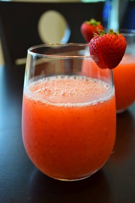 Strawberry Margaritas   Strawberry Margaritas   Ingredients: – 5 oz tequila (5 shots) – 2 ice-trays' worth of ice – 1/2 a carton of strawberries, cut into halves – 1/3 cup sugar – 1/2 cup lemon juice  Blend until frothy.