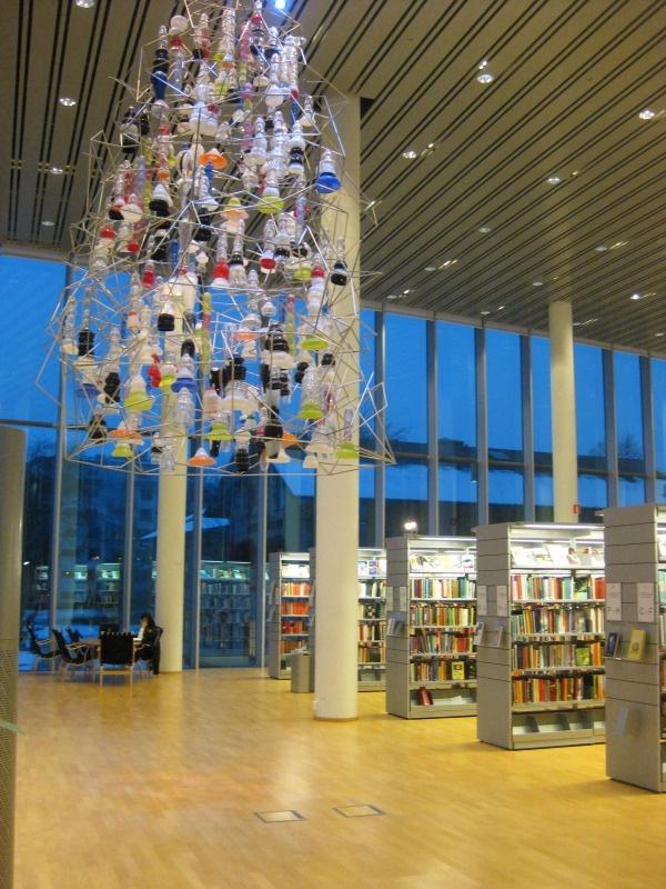 Beautiful library in Halmstad, Sweden.