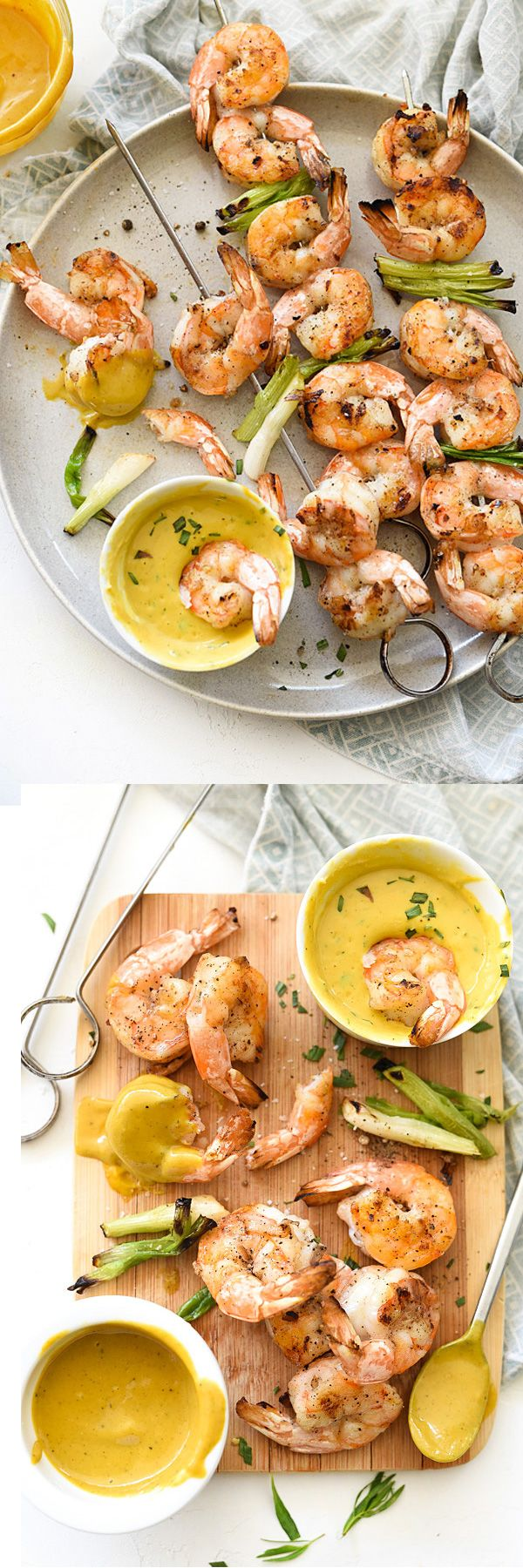 These shrimp take just minutes to cook and are so good dipped in mustard sauce. A perfect appetizer or main meal | foodiecrush.com