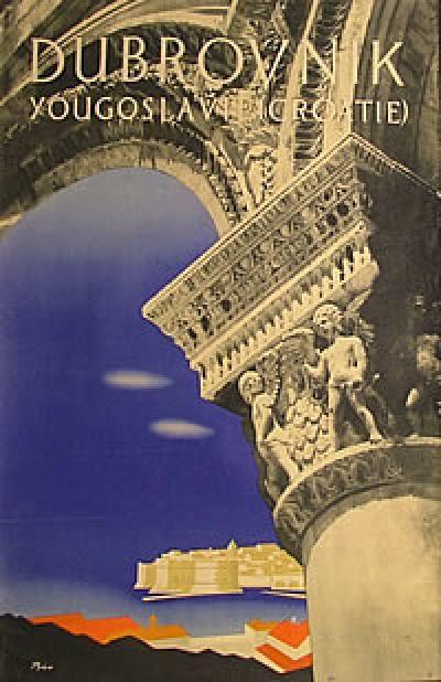 Dubrovnik, Yugoslavia, Croatia, 1959 travel poster