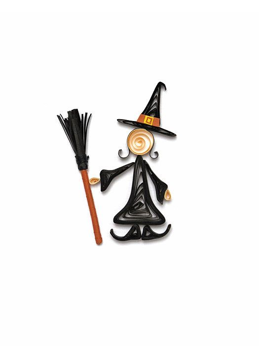 Best Witches - Halloween paper quilling blank card by szalonaisa. --Etsy.