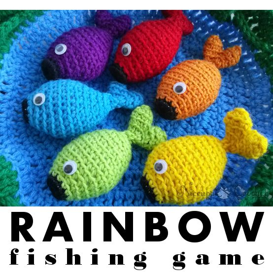 Rainbow Fishing Game - Free Pattern