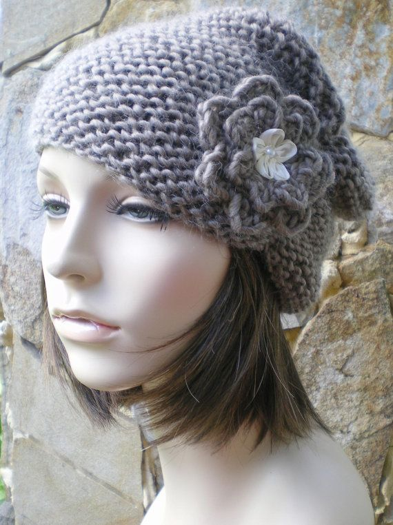 hand knit turban cloche hat merino kid mohair hat by annmag