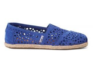 Stylish#casual#comfy  Blue Moroccan Cutout Women's Classics   TOMS.com #toms