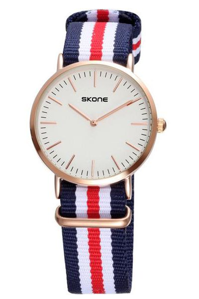 skone 6165G Multicolor Fabric Wristwatches Quartz Wristwatches Mens Womens Fashion waterproof watches  $13.99
