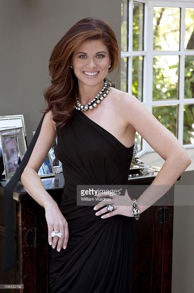 Actress Debra Messing poses at a portrait session for InStyle, showing some of her jewelry collection in Los Angeles, CA on May 1, 2010.