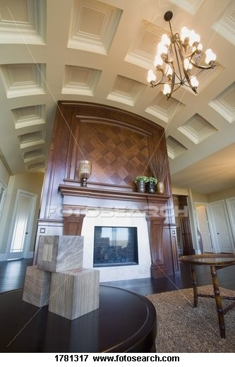12 best coffered ceilings images on pinterest coffered for Coffered cathedral ceiling