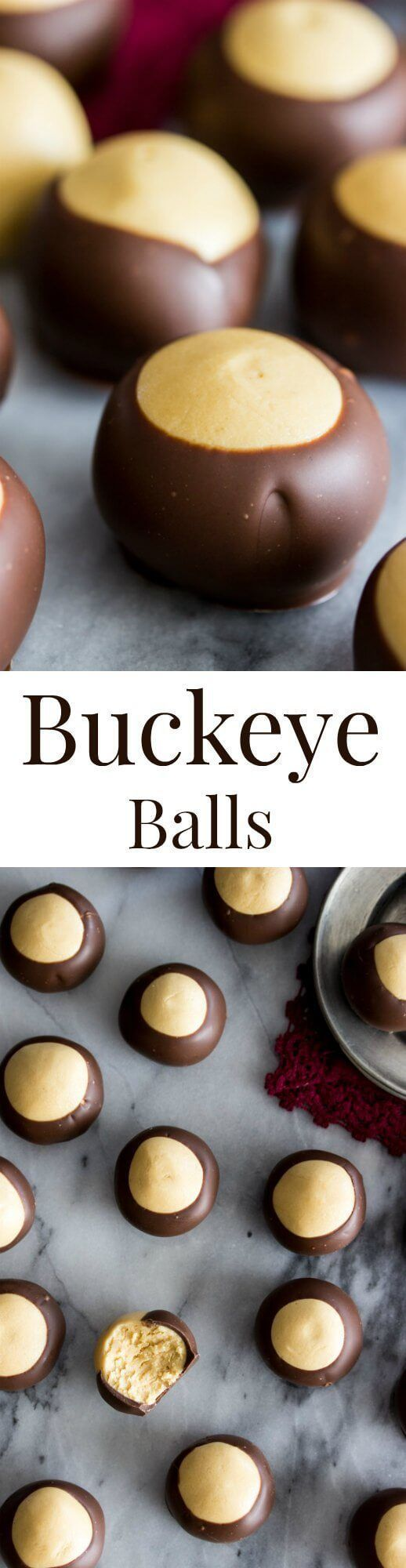 Easy Buckeye Recipe via /sugarspunrun/