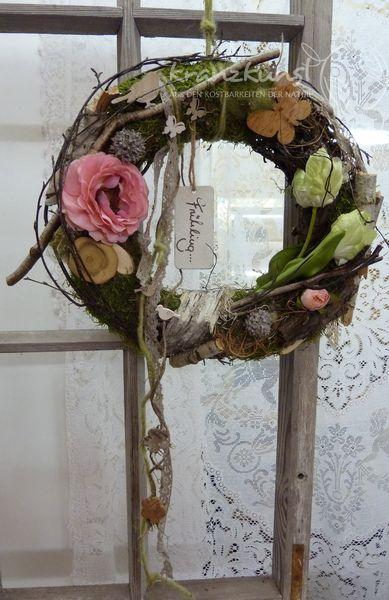 NATUR ♥Frühlingszart...♥ Frühlingskranz Shabby von ♥♥ kranzkunst ♥♥ auf DaWanda.com