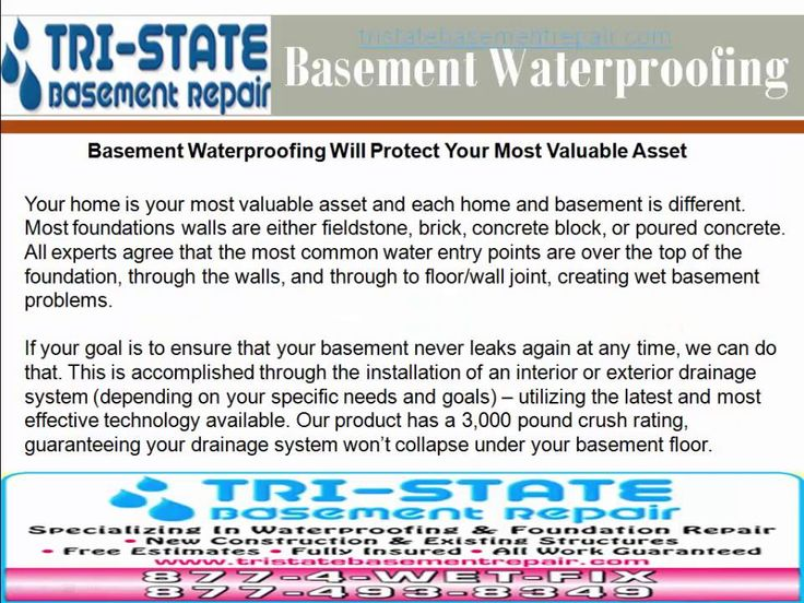 Tri-State Basement Repair use classified products limited to their and provide distinctively better-quality solutions to your damp and wet basement. http://tristatebasementrepair.com
