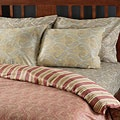 $32 os.com Tuscan 300 Thread Count Reversible Duvet Cover Set Spice