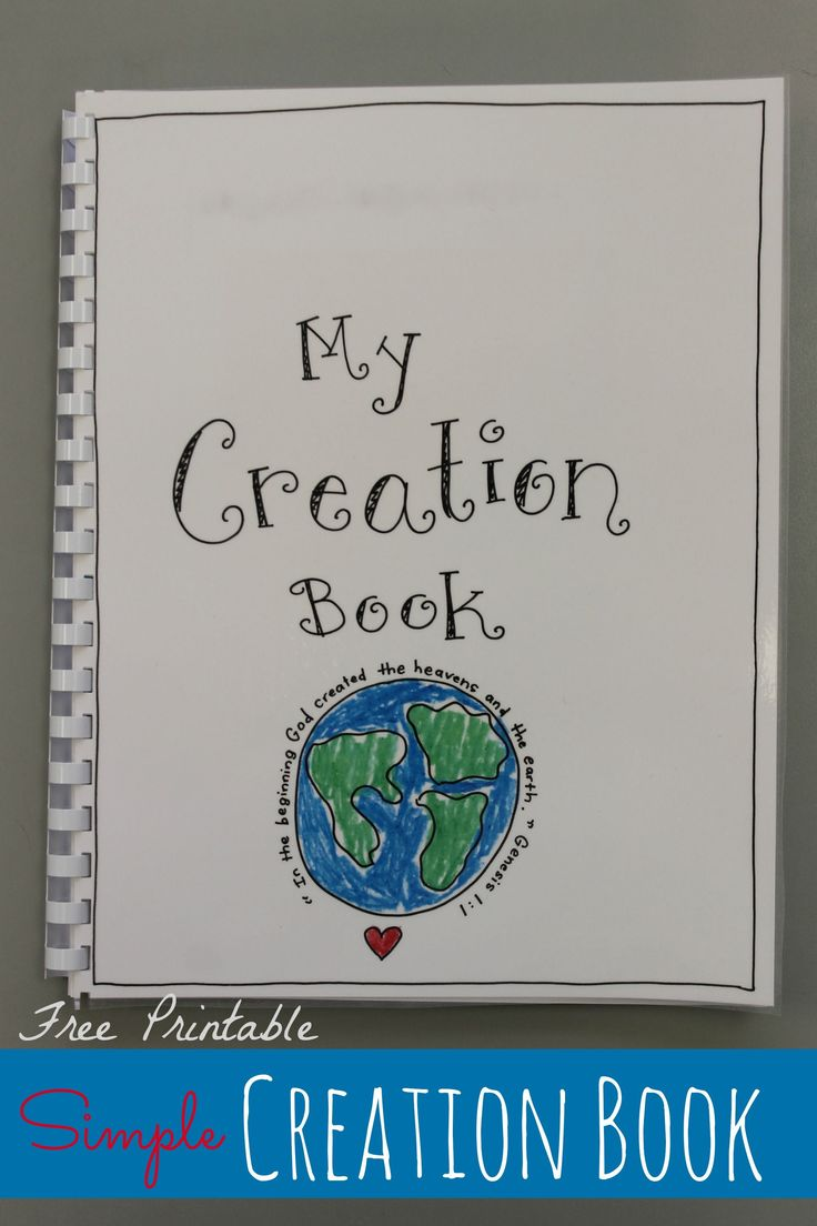 FREE Printable Creation Book Craft at happyhomefairy.com