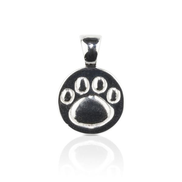 Dog themed Jewellery - Paw Print sterling silver Pendant