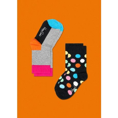 2 PACK KIDS HAPPY SOCKS