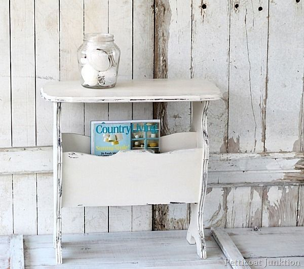 chic white table Petticoat Junktion @Country Living Magazine