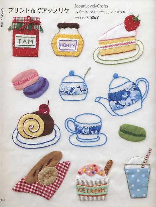 Easy Hand Embroidery & Pattern 350 Japanese by JapanLovelyCrafts