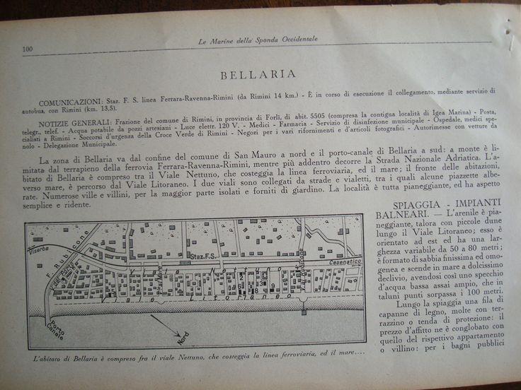 """#Bellaria - """"L'arenile è pianeggiante, è formato di #sabbia finissima ed omogenea e scende in mare a dolcissimo declivio"""" - La nostra #spiaggia su una guida del 1933"""