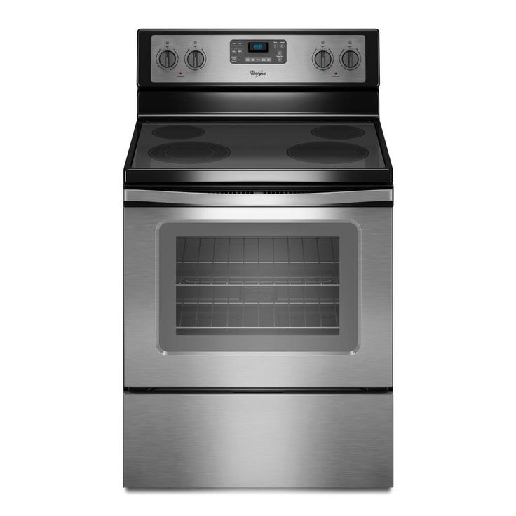 Whirlpool 5.3 cu. ft. Electric Range with Self-Cleaning Oven in White with SteamClean Option-WFE515S0EW - The Home Depot