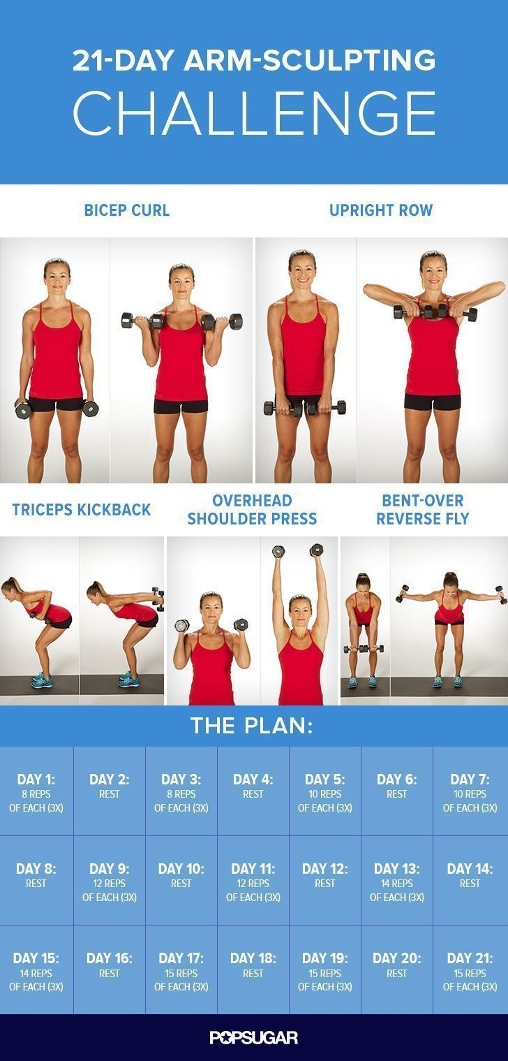 After following this 21-day arm workout plan, not only will your arms look toned, but you'll also be stronger.