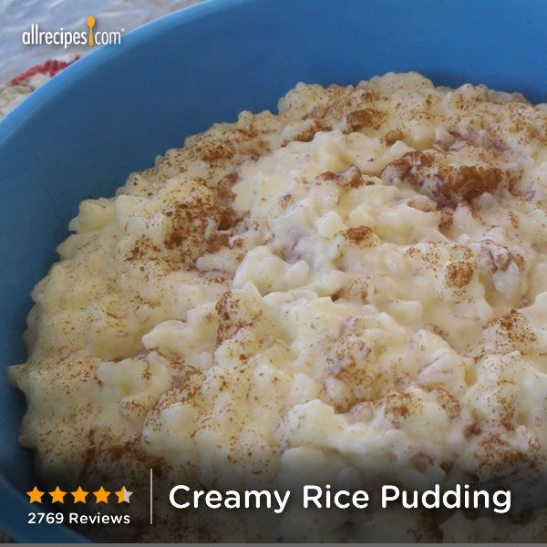 ... Rice Puddings Recipes, Comforter Food, Creamy Cinnamon Rice, Creamy