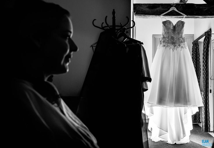 Steph the Bride getting ready in the morning before her wedding, at the Folly Farm Centre.