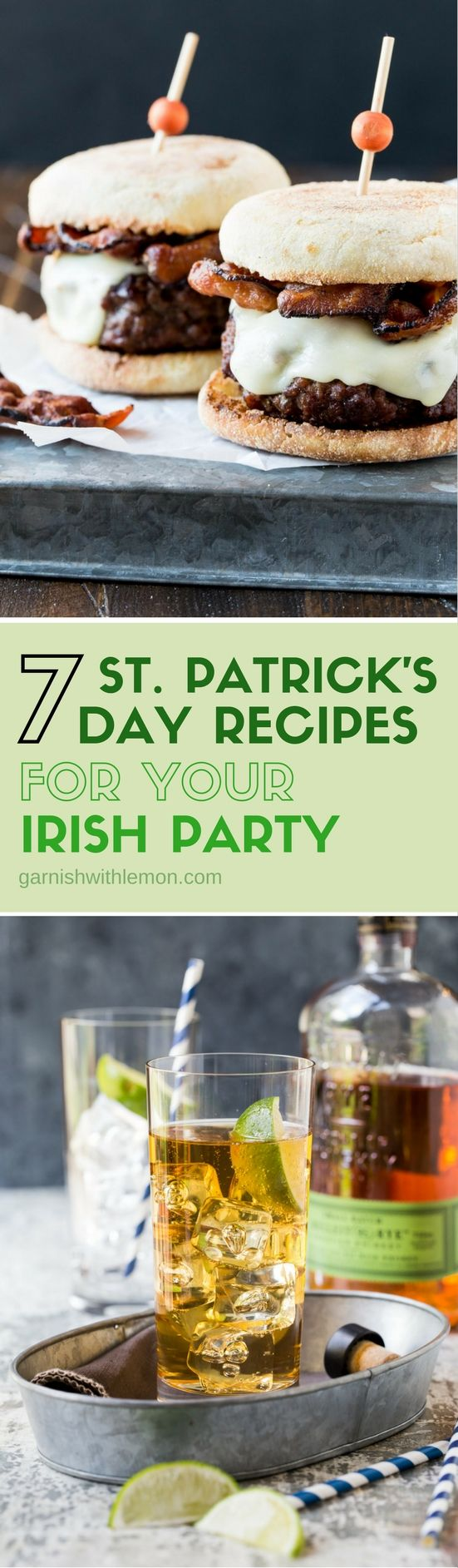 Everyone is just a little bit Irish on St. Paddy's Day. Celebrate with any one of these 7 traditional (and not so traditional) St. Patrick's Day Recipes for your Irish party!